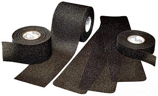 "3M 310-Black-18""x60' Rolls Medium Resilient Treads"