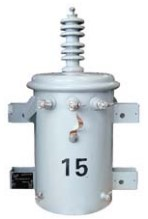 *GE C151412NT1DHGSAR POLE-MOUNT 15KV 24940 GRDY/14400 - 120/240 NO-TAPS, DOUBLE HANGER TANK, 1 HV BUSHING, ARRESTER